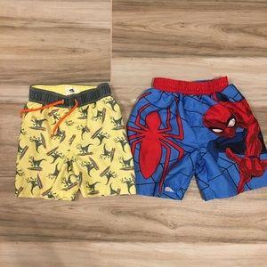 Old Navy / Marvel Boys Swim Trunks - Bundle of 2